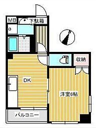神奈川県海老名市泉2丁目の賃貸マンションの間取り