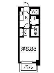 タウンライフ朝岡[6階]の間取り