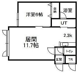 北海道札幌市手稲区曙十二条2丁目の賃貸アパートの間取り