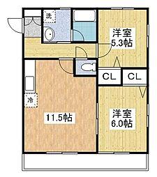 SUN・YES岡垣[1階]の間取り