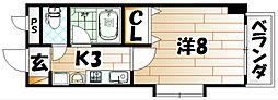 藤本ビルNO.21中津口[4階]の間取り