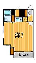 神奈川県横浜市鶴見区鶴見中央1丁目の賃貸マンションの間取り