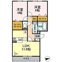 仮)D-room戸田[103号室]の間取り