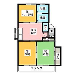 オアシス・二ケ崎[2階]の間取り