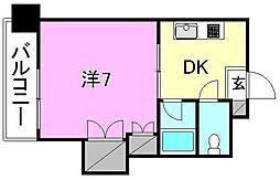 ジョイフル東野[210 号室号室]の間取り