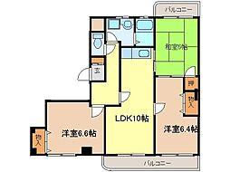 愛知県知多市新舞子字神田の賃貸マンションの間取り