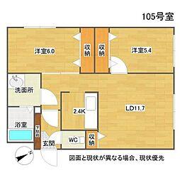 北海道札幌市西区八軒三条西2丁目の賃貸マンションの間取り