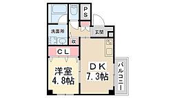 (仮称)美園町共同住宅[101号室]の間取り