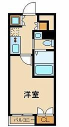 スカイコート東京ベイ・東雲 4階1Kの間取り