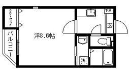 クレフラスト桜ヶ丘[1階]の間取り