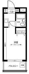 東京都新宿区下落合1丁目の賃貸マンションの間取り