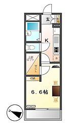 レオパレス福住[4階]の間取り