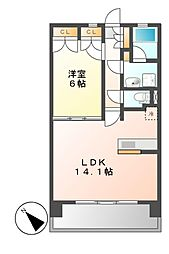 KAMIMAEZU RISE(カミマエズライズ)[4階]の間取り