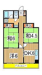 マンション青木[402号室]の間取り