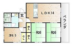 第2瓜生ビル[3階]の間取り