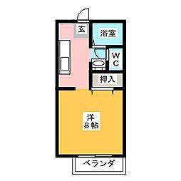 メロディアンヴィレッジB[2階]の間取り