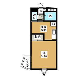 旭コンフォート中田[3階]の間取り
