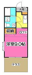 埼玉県所沢市東狭山ケ丘3丁目の賃貸アパートの間取り