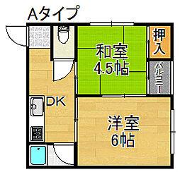 ライフイン住之江A棟[4階]の間取り