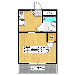 ヴィラ円町[303号室]の間取り