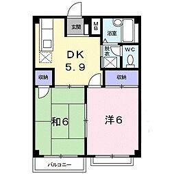 エルディムMIZU[2階]の間取り