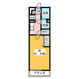 レガーメ野並[3階]の間取り