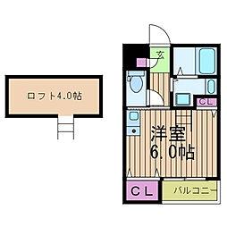 セレニティ立花参番館[2階]の間取り