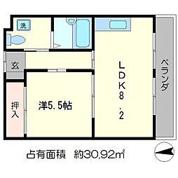 コーポふじ[4階]の間取り