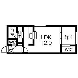 RAGUSA N5W17 A[5階]の間取り