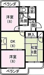 マンションサザンII[203号室]の間取り
