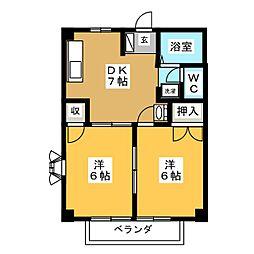 アメニティプラザ A棟[1階]の間取り
