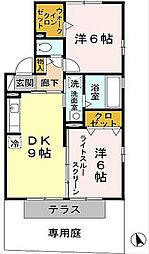 オアシスMARUGEN[2階]の間取り