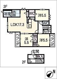 maison verte覚王山[3階]の間取り