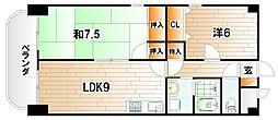 H.M.BLD[3階]の間取り