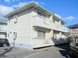 岡山県岡山市北区撫川の賃貸アパートの外観