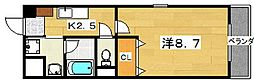 ユリウスNUMBER5[3階]の間取り