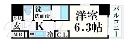 JR東海道・山陽本線 神戸駅 徒歩5分の賃貸マンション 9階1Kの間取り