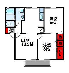 エーデル21 C[1階]の間取り