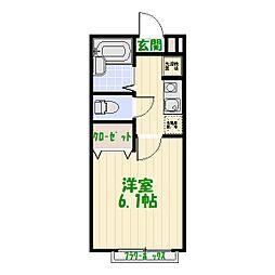 東京都葛飾区西水元1丁目の賃貸アパートの間取り