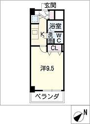 アーク徳重[4階]の間取り