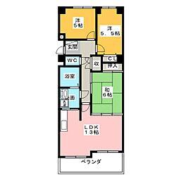 ライオンズマンション三郷第二[1階]の間取り