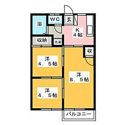 天神台パレスI[1階]の間取り