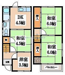 [一戸建] 大阪府東大阪市池之端町 の賃貸【/】の間取り