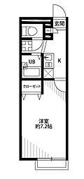 アムールHAGIWARA[1階]の間取り