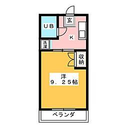 セイントフローレンスII[2階]の間取り