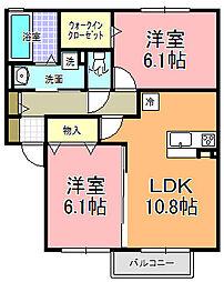 仮)D−room寄井 F[202号室]の間取り