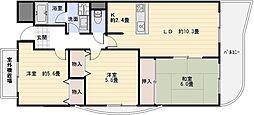 グランリジェール[4階]の間取り