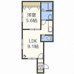 R-FREEジュアン[1階]の間取り