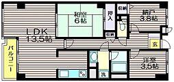 東京都世田谷区粕谷3の賃貸マンションの間取り