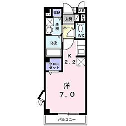 千葉県柏市南増尾4の賃貸アパートの間取り